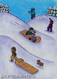 Illustration: Tobogganing