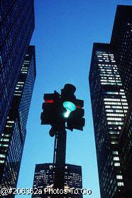 Traffic light & buildings